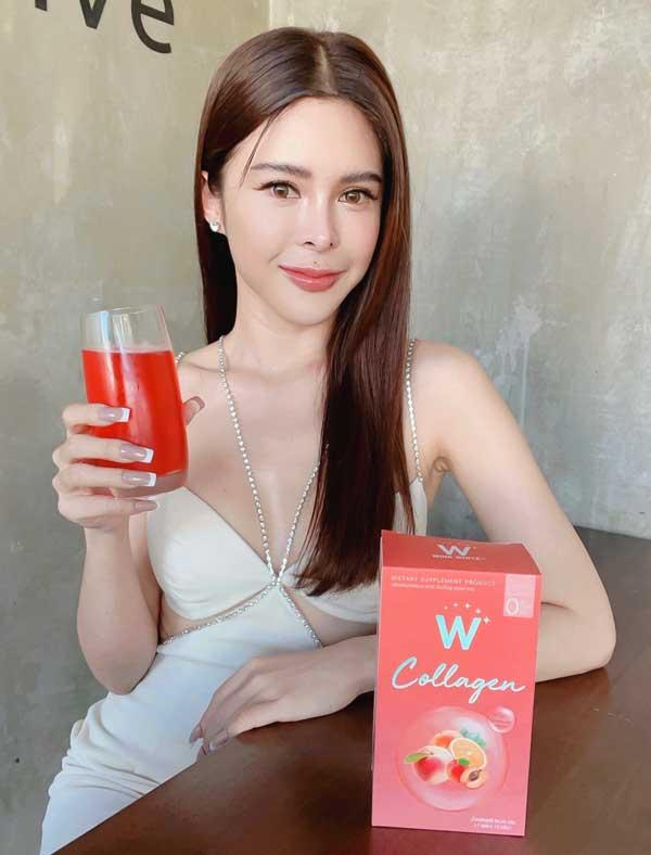w collagen wink white พีช เพียว วิ้งไวท์ คอลลาเจน ดับเบิ้ลยู วิงค์ไวท์